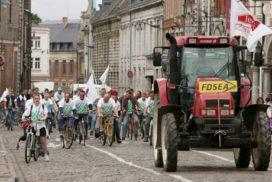 Frans protest tegen brandstofprijzen