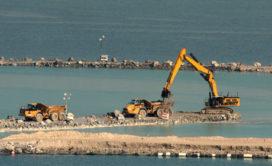 Zeven miljoen ton puin en rotsen