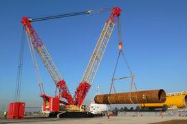 Kobelco SL 6000 aan de slag met offshore turbinepalen