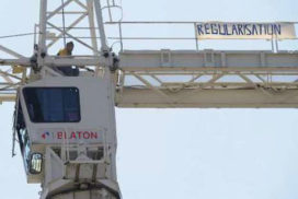Illegalen bezetten zeven kranen in Brussel