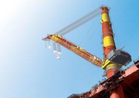 Liebherr bouwt grootste 'zwemmende' kraan ter wereld