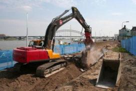 De Waalkade in Nijmegen trilt er op los