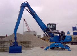 Terex-Fuchs MHL 360 D voor Bos Grind- en Zandhandel