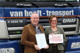 Van Hooft Transport ontvangt Keurmerk Transport en Logistiek