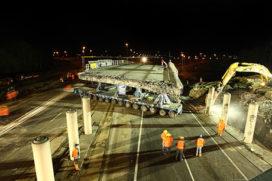 1200 ton wegend viaduct A67 verplaatst