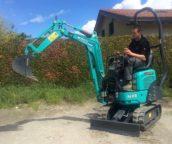 Kobelco's kleinste graafmachine arriveert in Europa