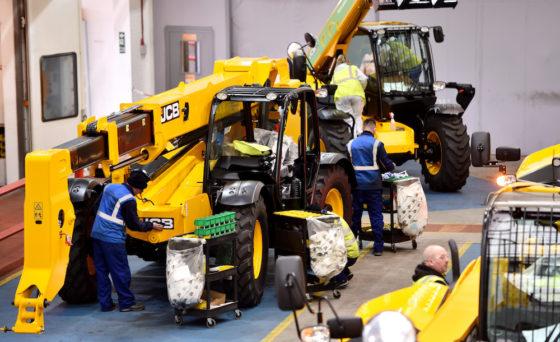 Vanaf het begin worden de JCB verreikers geproduceerd in de fabriek bij het hoofdkantoor van JCB in Rocester, Staffordshire.