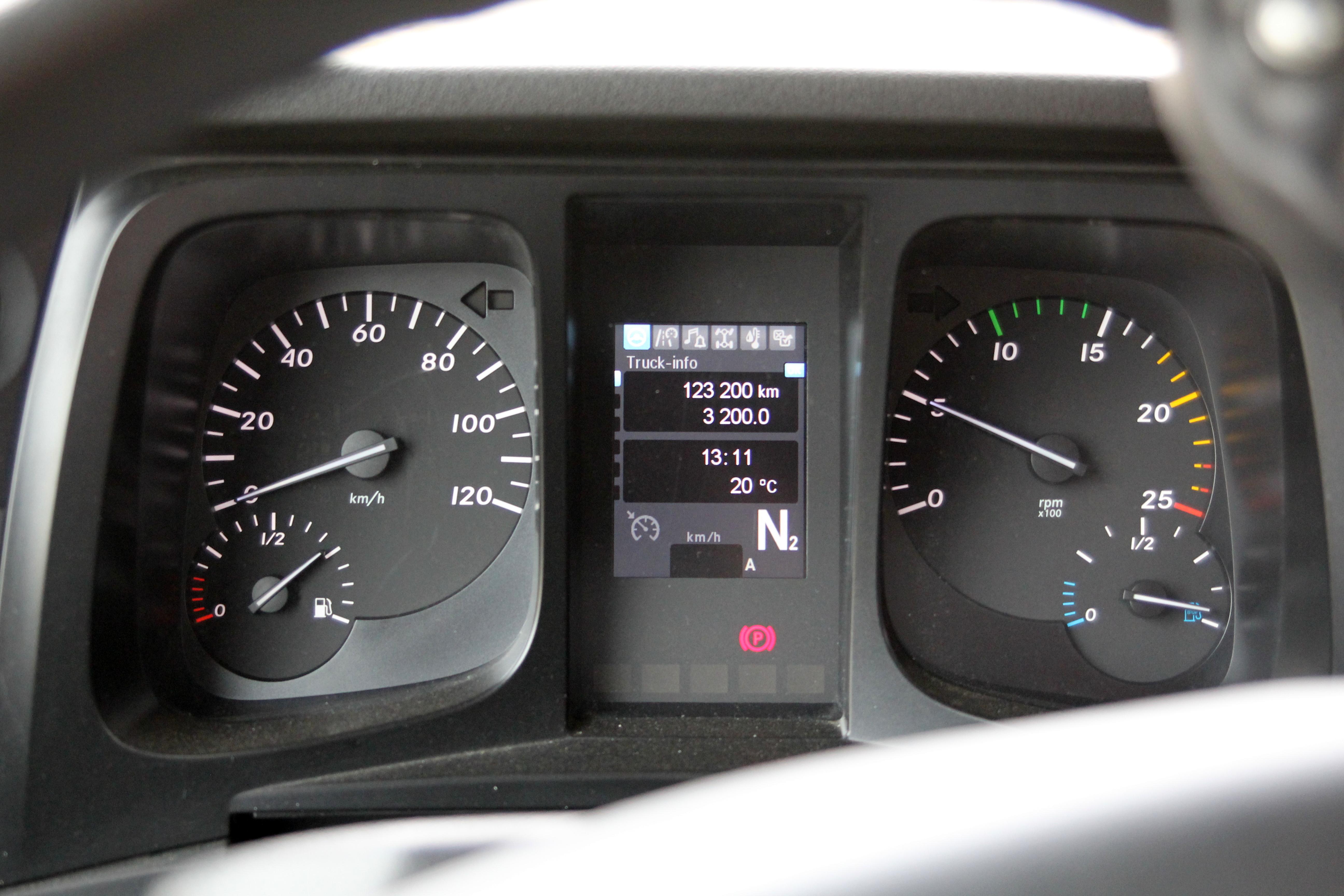 <p>Informatief dashboard met alle aandrijffuncties keurig in beeld.</p>