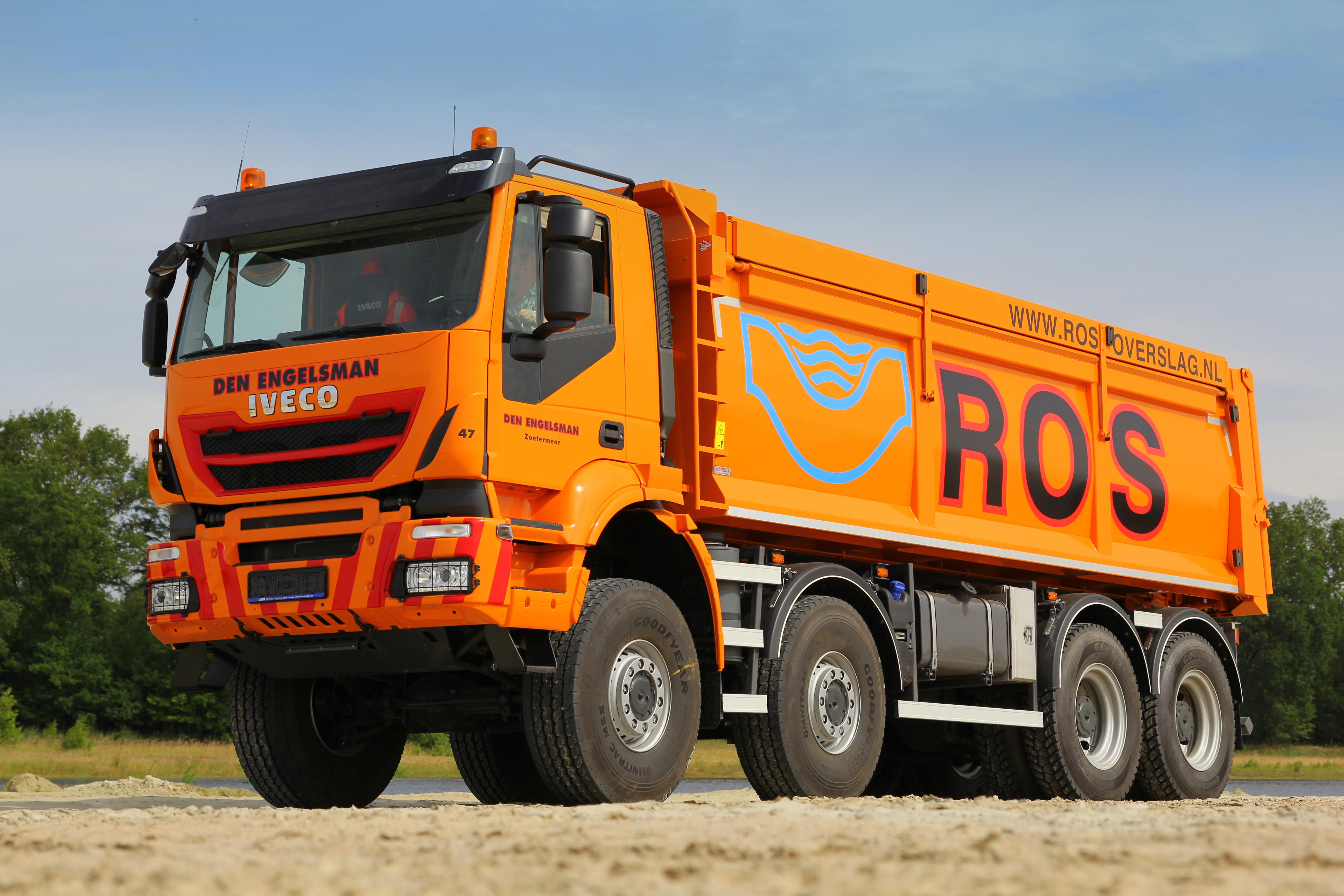 <p>Het IvecoTrakker-chassis is met 12.230 kg het lichtste van allemaal.</p>