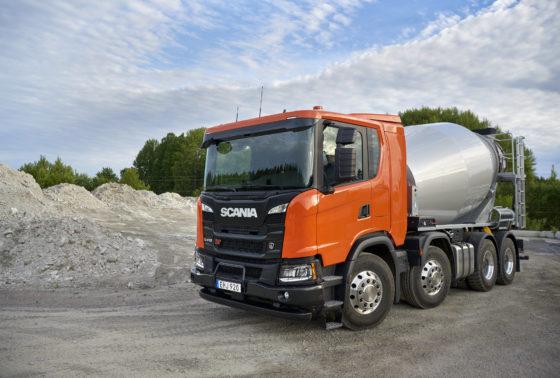 Scania biedt een groot aantal chassis 'op maat' voor speciale toepassingen zoals betonmixers.