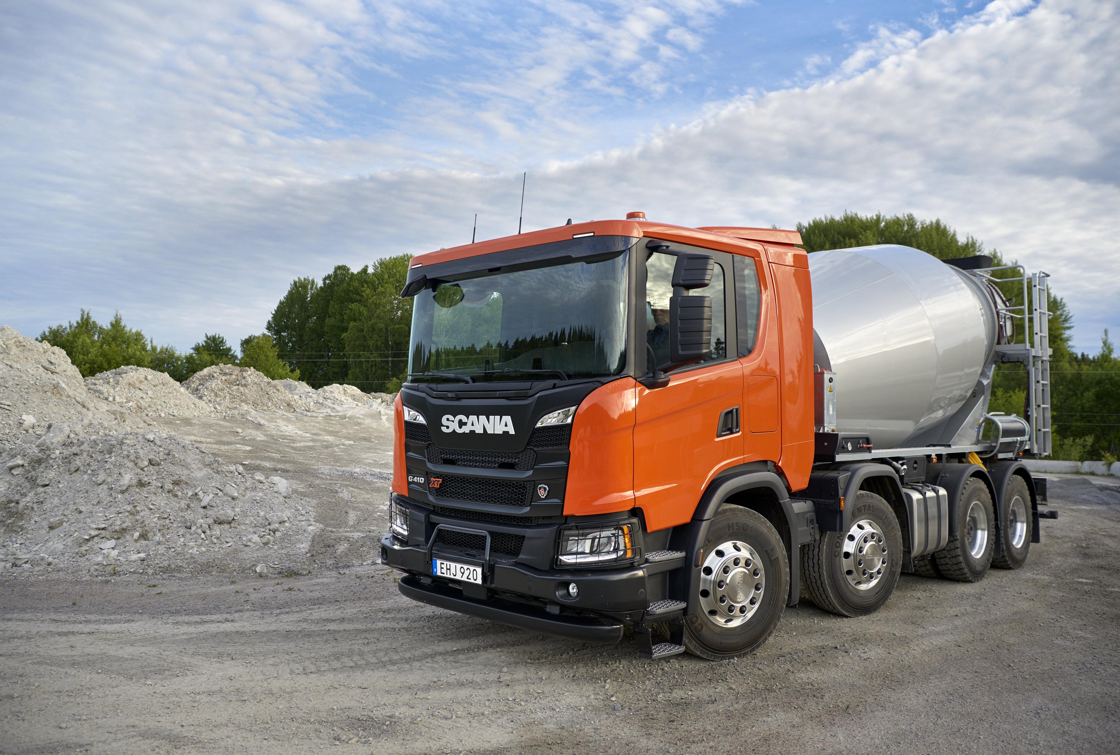 <p>Scania biedt een groot aantal chassis 'op maat' voor speciale toepassingen zoals betonmixers.</p>