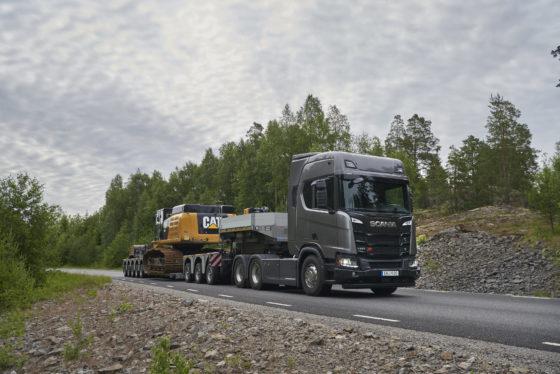 De Scania R650 V8 in XT-uitvoering als zwaartransport-trekker.