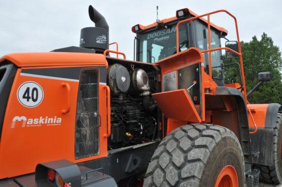 Doosan maakt gebruik van Scania-motoren en dat werd stevig benadrukt in Zweden.