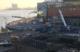Kraanwagen zakt door brug bij Amsterdam CS