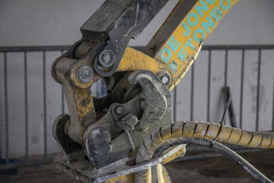 Brokk produceert een eigen snelwissel voor de robots.