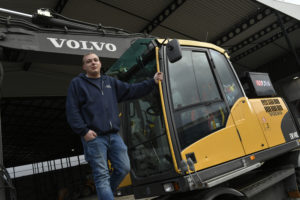Machinist van de maand FEBRUARI: Mark Salentijn en zijn Volvo EW140C