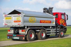 Iveco Trakker wide spread met mechanisch gestuurde derde as van Veldhuizen