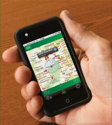 Met een app gekoppeld aan het telematica-systeem heb je op afstand inzicht in onder andere de locatie en onderhoudstoestand van machines. Hier een voorbeeld uit de landbouw.