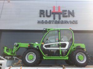 Rutten Hoogteservice in Wijchen gaat de hoogte in met een nieuwe Merlo P27.6 Plus verreiker. De machine is dankzij de kleine draaicirkel zeer wendbaar, en met de compacte afmetingen breed inzetbaar.