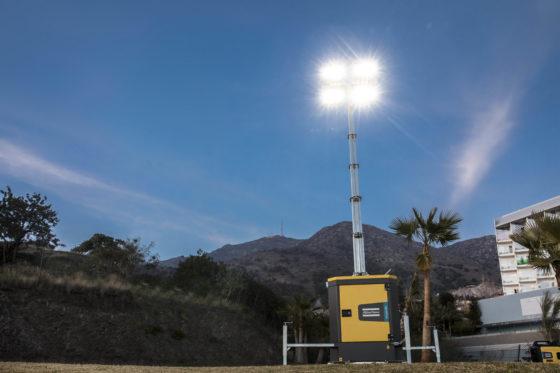Atlas Copco introduceert ultrastille LED-lichtmast