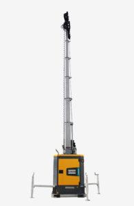 Atlas Copco heeft een nieuwe, ultrastille, dieselaangedreven LED-lichtmast geïntroduceerd voor gebruik in stedelijke en woonomgevingen.