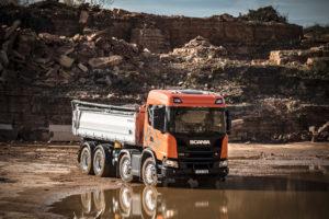 Scania XT bouwtruck in de spotlights op TKD