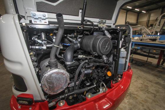 De 22,4 pk Yanmar ligt ook in de TB228, en is dus feitelijk overbemeten in deze lichtere TB225. Dit moet zorgen voor de beloofde extra capaciteit.