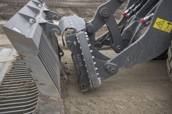 De snelwissel maakt de machine uiterst flexibel qua inzet.