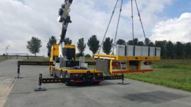 Achterste meter laadbak Scania 8×2 demontabel