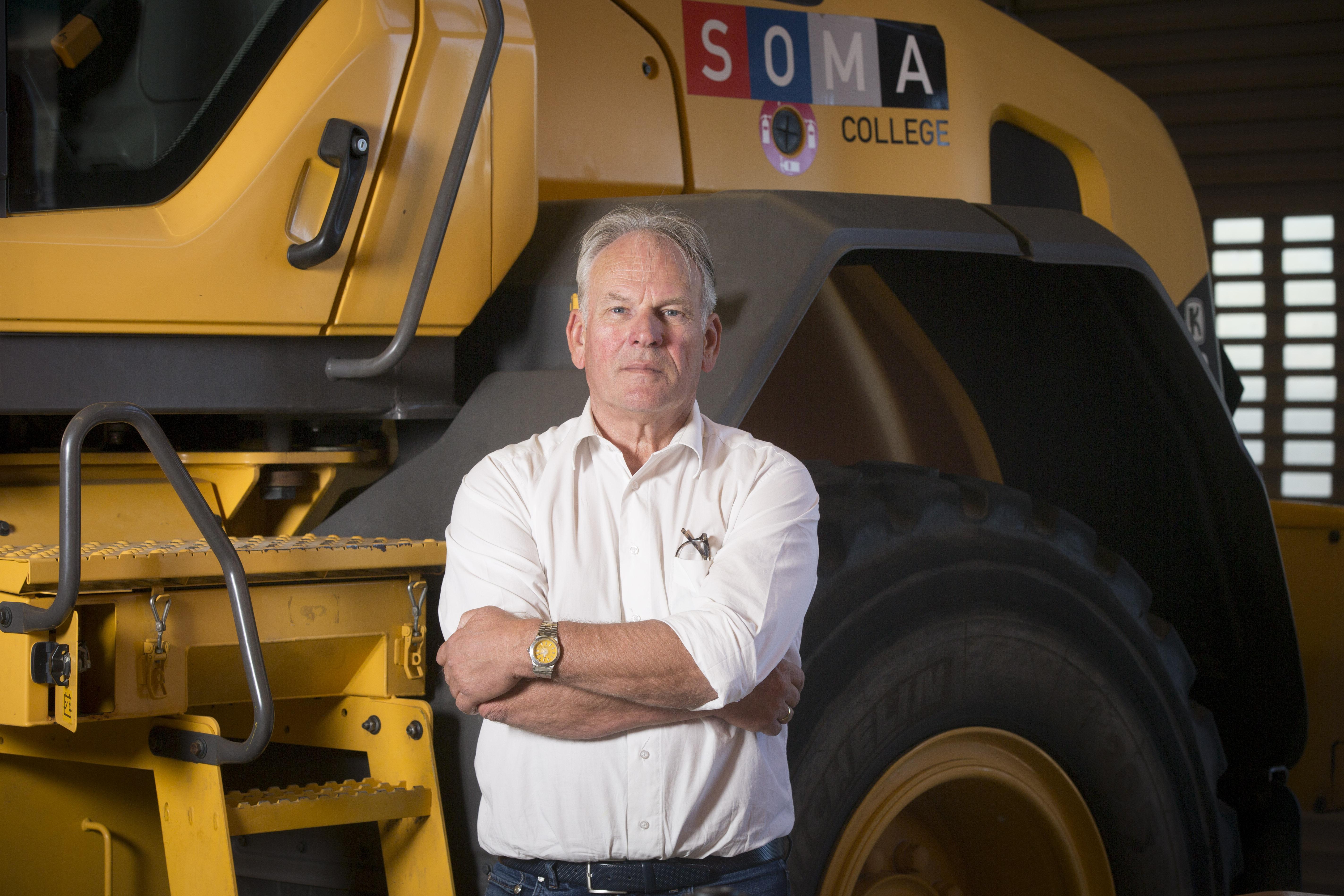 <p>Frank Groen werkt al bijna dertig jaar als docent op het SOMA College. 'De animo voor een opleiding aan deze prachtschool is  onverminderd groot.'</p>