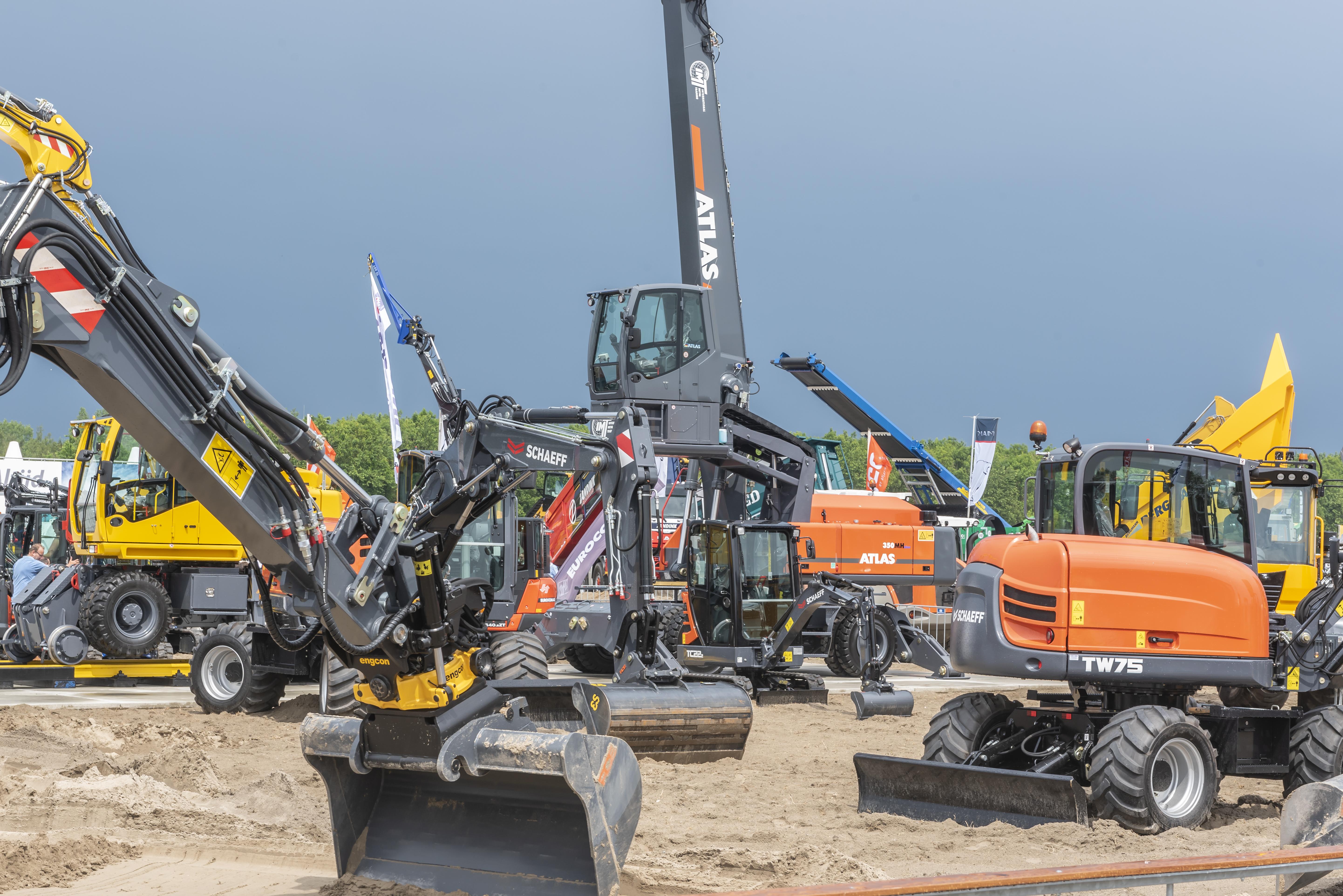 Nederlandse verkoopcijfers bouwmaterieel 2017