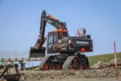 Anema bouwt mobiele graafmachine op vier rubbertracks