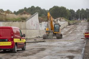 Van der Wal sloopt A7-tunnel bij Joure met een mega-flex