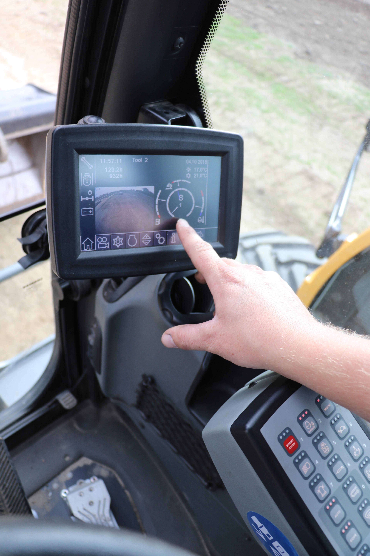 Het 7-inch touchscreen-display.