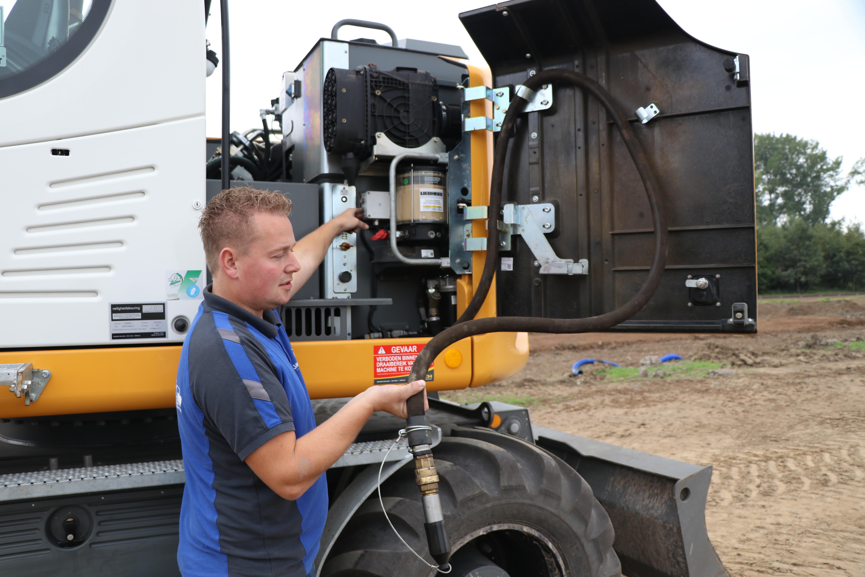 Alle onderhoud moet bij Liebherr vanaf de grond kunnen worden uitgevoerd.