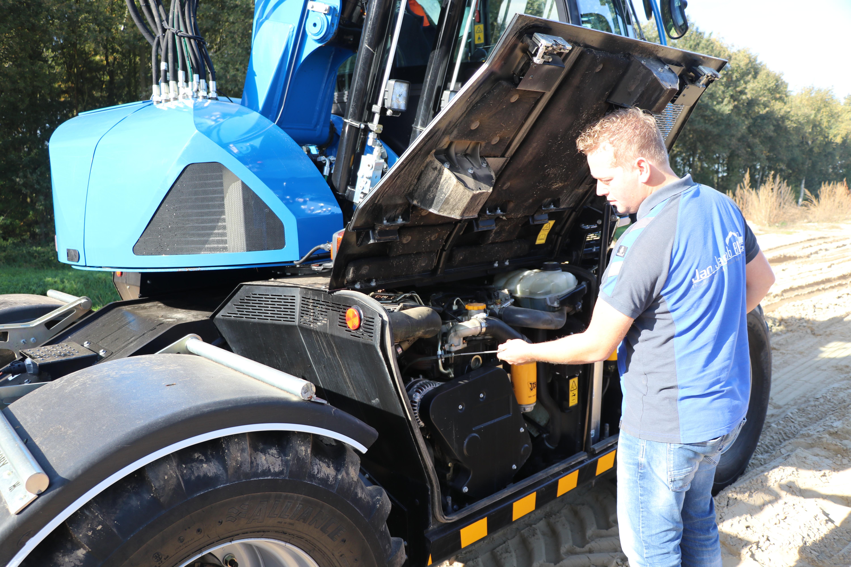 De motor zit in de onderwagen: stabiel en servicevriendelijk.