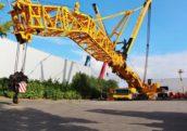 Grootste mobiele kraan ter wereld bij Pfeifer in Groenlo