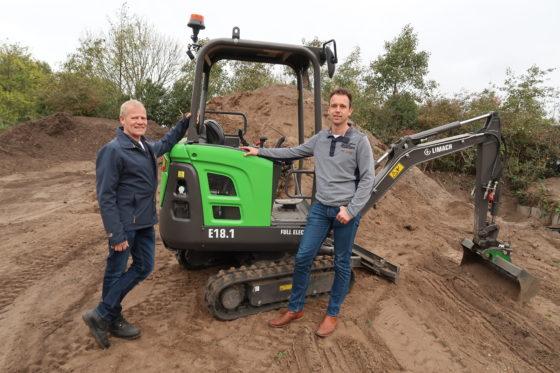 Mkb-familiebedrijven aan de basis van bijzondere primeur: Limach, een elektrische mini-graver op accu's