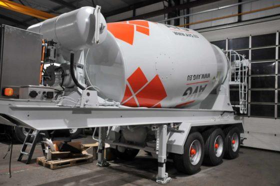 Elektrisch aangedreven betonmixer-opleggers voor AVG