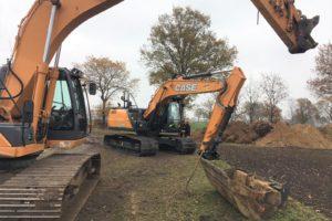 Schmidt voelt zich vereerd: Case CX210D vervangt CX210B bij Hobelman-Halle