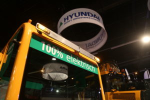 Elektrische Hyundai minigraver