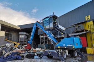 Bijzondere elektrische Fuchs overslagmachine voor Van Dijk Containers