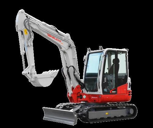 Takeuchi lanceert drie nieuwe machines in de 2-serie