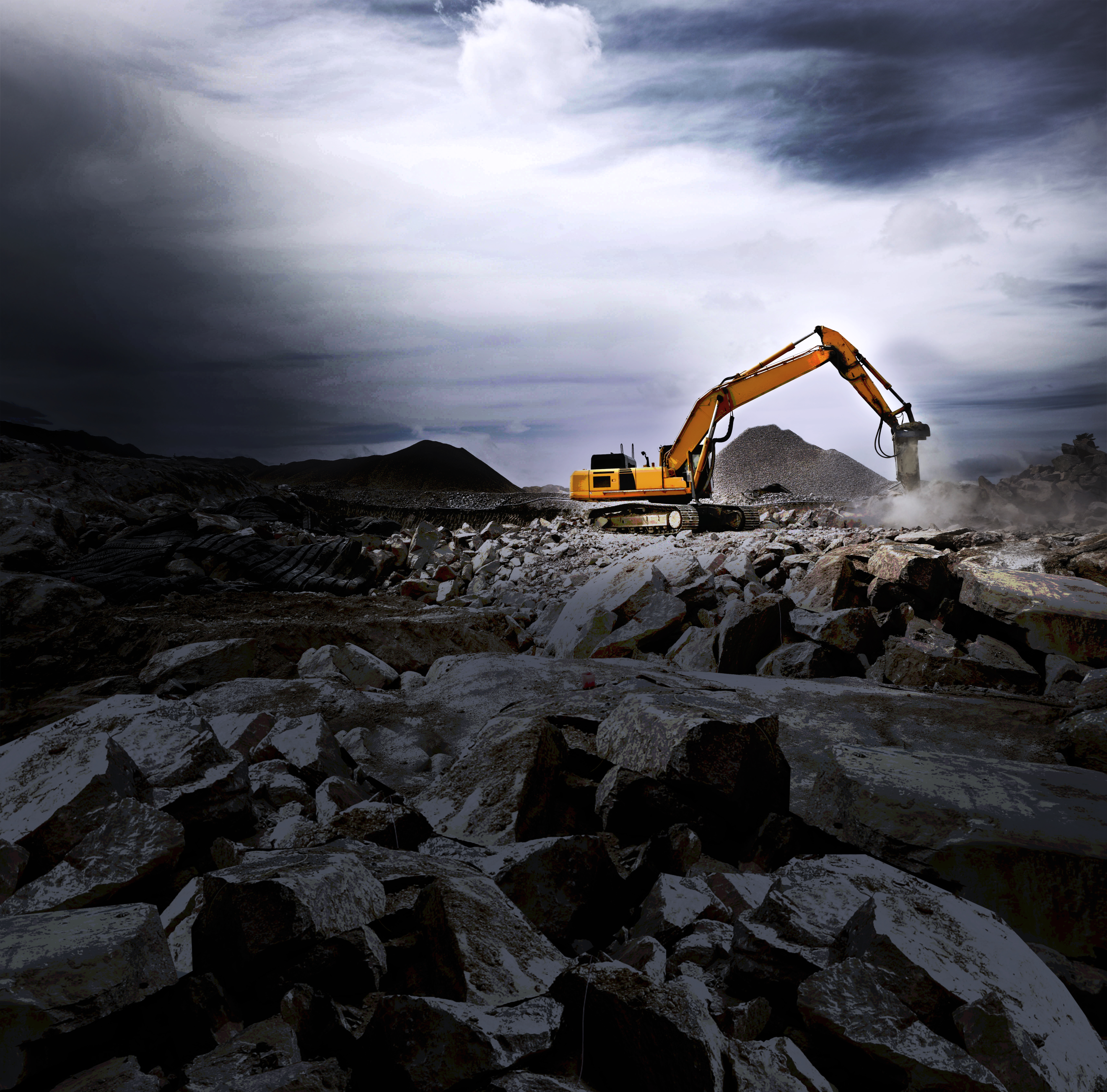 <p>Excavator on construction site</p>