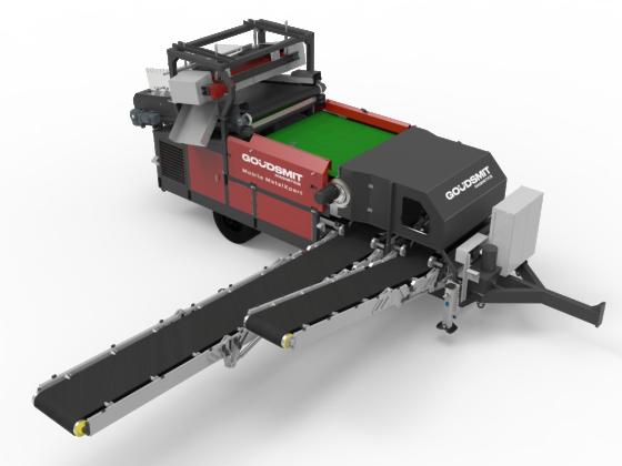 Goudsmit Mobile MetalXpert scheidt ferro en non-ferro metalen uit bulkstromen