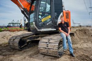 Machinist van de maand juni: Gert-Jan de Labije en zijn Hitachi ZX135US