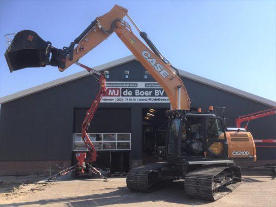 Mini, midi, maxi: Maarten de Boer kiest met Case CX210D voor een 'grote graver'