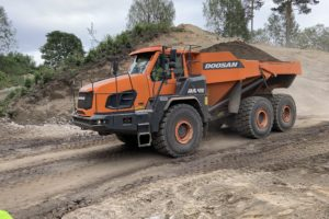 Doosan introduceert Stage V knikdumpers