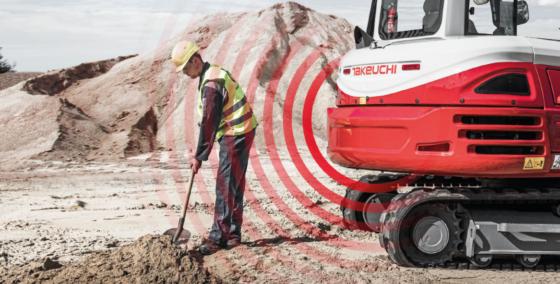 Innovatie hydraulische graafmachines Takeuchi: automatische noodstop bij gevaar