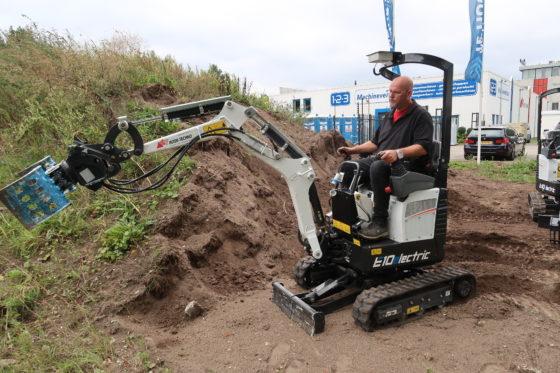 Nederland proeftuin elektrische minigraver Bobcat: E10E twee keer zo duur als dieselmodel